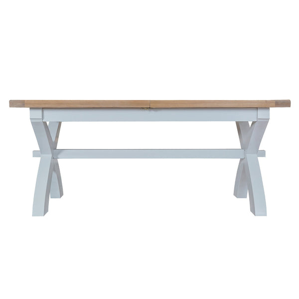 Cotswold 1.8m Cross Extending Table - Grey Painted