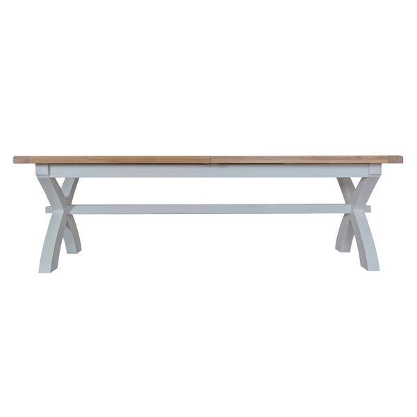Cotswold 2.5m Cross Extending Table - Grey Painted