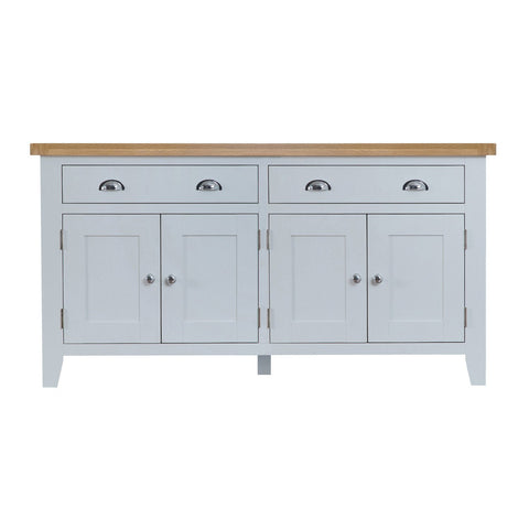 Cotswold 4 Door Sideboard - Grey Painted