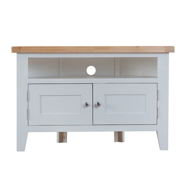Cotswold Corner TV Unit - Grey Painted