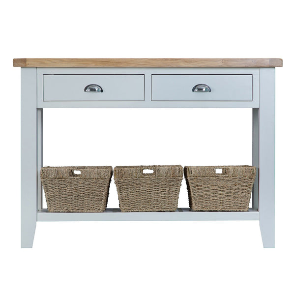 Cotswold Large Console Table - Grey Painted