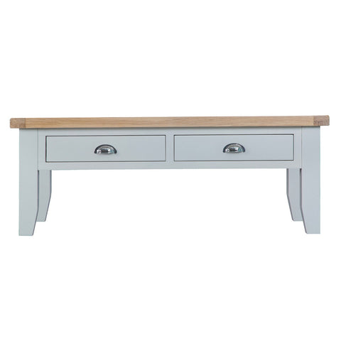Cotswold Large Coffee Table - Grey Painted