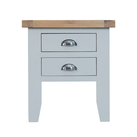 Cotswold Lamp Table - Grey Painted