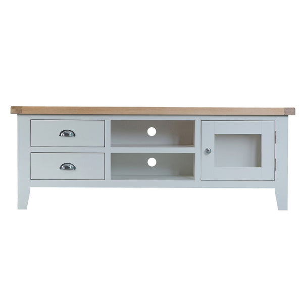 Cotswold Large TV Unit - Grey Painted