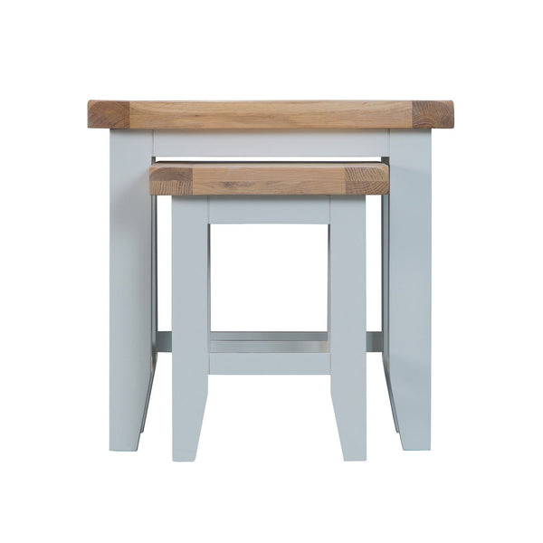 Cotswold Nest of 2 Tables - Grey Painted