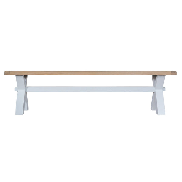 Cotswold Small Cross Bench - Grey Painted