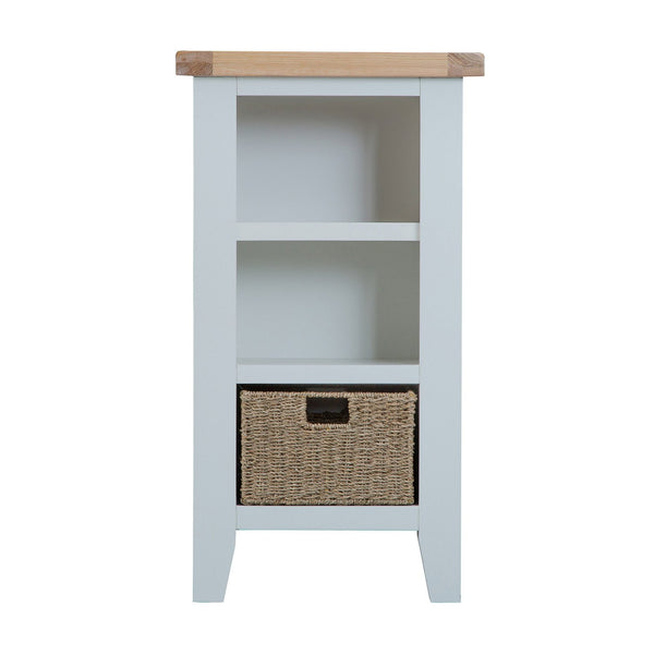 Cotswold Small Narrow Bookcase - Grey Painted