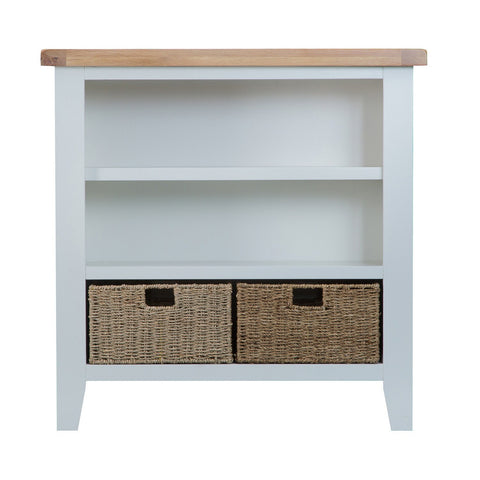 Cotswold Small Wide Bookcase - Grey Painted