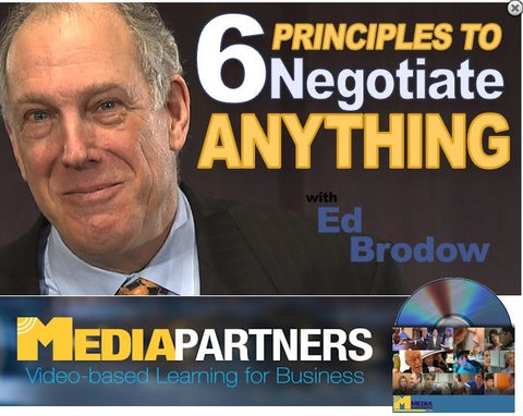 6 Principles to Negotiate Anything with Ed Brodow - DVD