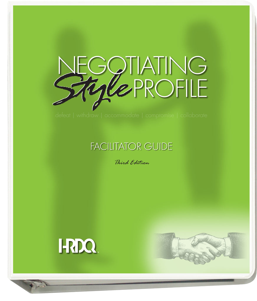 Negotiating Style Profile Facilitator Guide