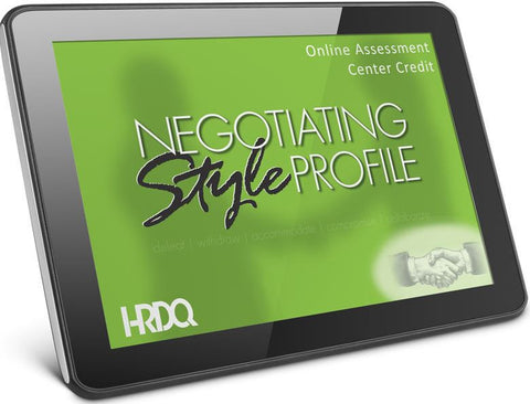 Negotiating Style Profile Self Assessment Online