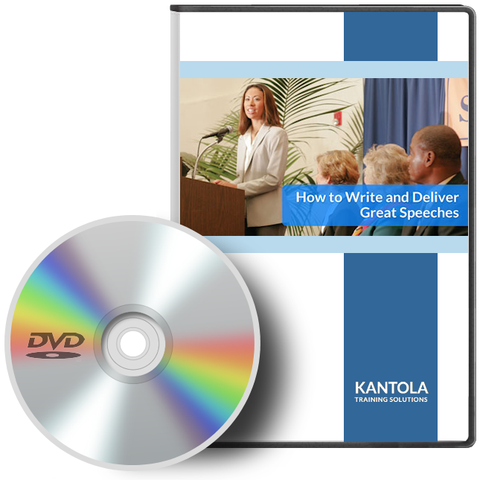 How to Write and Deliver Great Speeches - DVD
