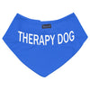 Friendly Dog Collars blue THERAPY DOG Bandana