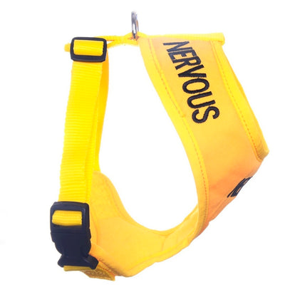 Friendly Dog Collars yellow NERVOUS XS Vest Harness Yellow Dog Project Give Me Space