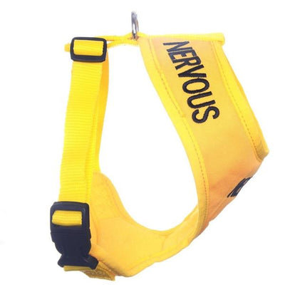 Friendly Dog Collars yellow NERVOUS Medium Vest Harness Yellow Dog Project Give Me Space