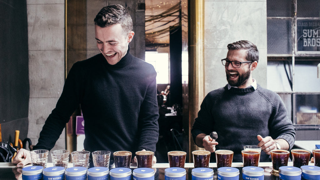 Matt Perger and Matt Graylee cupping the Wush Wush