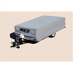 Gray  Polypropylene  12\' 1 To 14\'  Folding Trailers  RV Cover