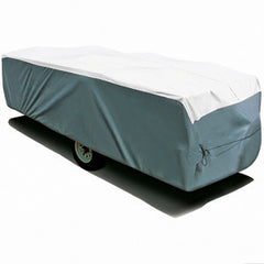 Gray & White  14\' 1 To 16\'  Tyvek (R)  Folding Trailers  RV Cover