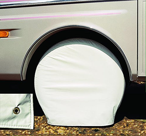 "ADCO White Ultra Tyre Gard Wheel Covers 27""-29"""