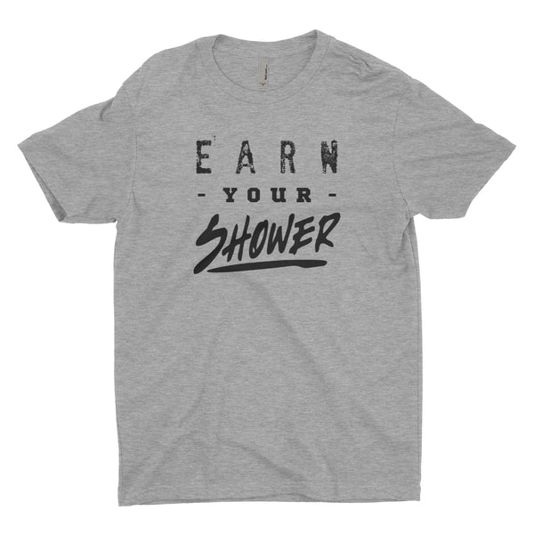 Earn Your Shower Blacked Out