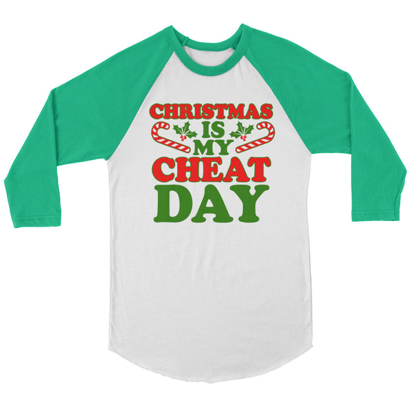 Christmas Is My Cheat Day Raglan