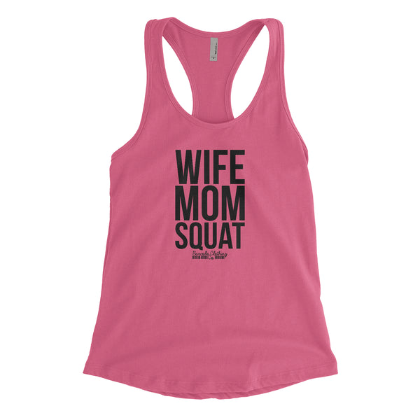 Wife Mom Squat Blacked Out