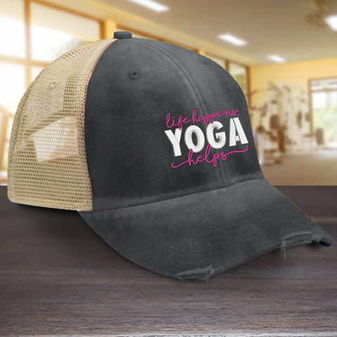 Life Happens Yoga Helps Hat