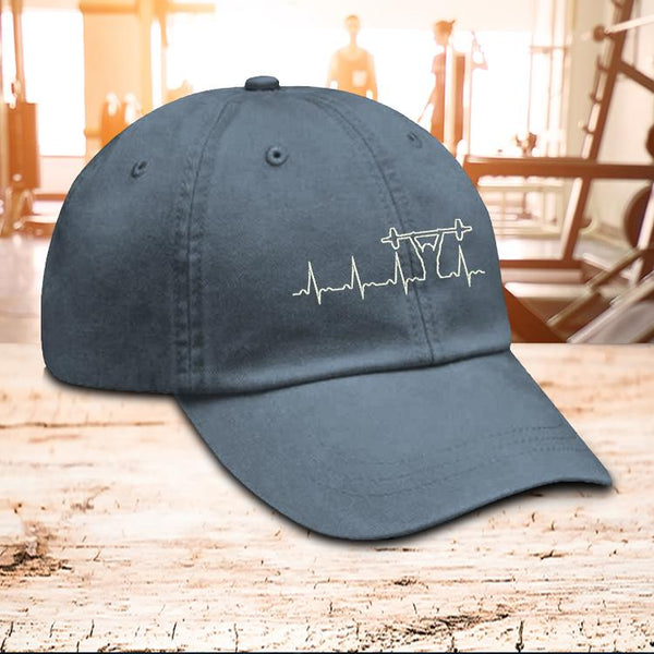 Hat - Barbell Heartbeat Hat