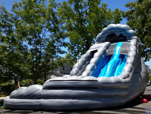 18' Wild Rapids Dual Lane Water Slide