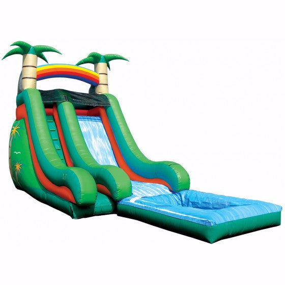 18' Tropical Splash Water Slide
