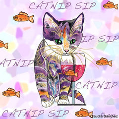 Catnip sip with Goldfish