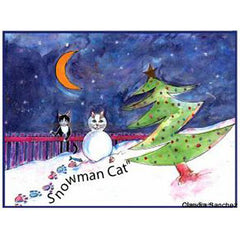 Snowman Cat by Claudia Sanchez