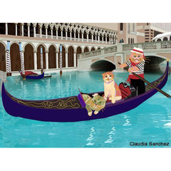 Three Cats in a Gondola by Claudia Sanchez