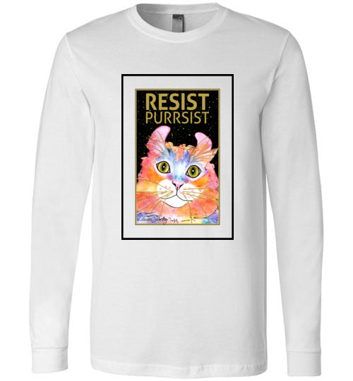 Simba RESIST-PURRSIST Long Sleeved T-Shirt by Claudia Sanchez
