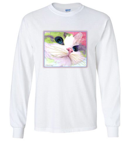 Ali's Eyes Long Sleeved T-Shirt by Claudia Sanchez