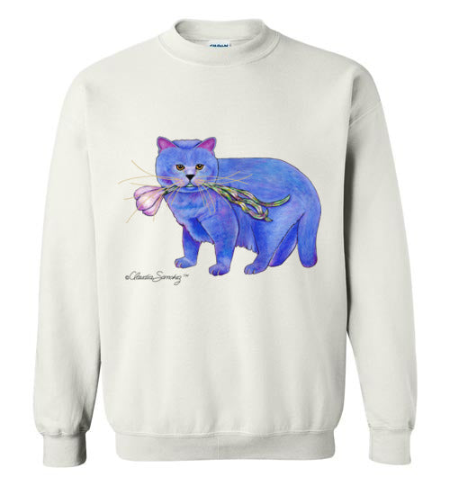 Garlic Cat Sweatshirt by Claudia Sanchez