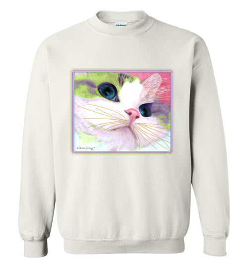 Ali's Eyes Sweatshirt by Claudia Sanchez