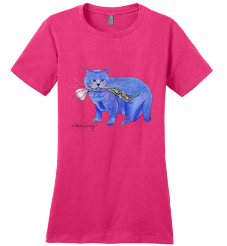 Garlic Cat Ladies Short Sleeved T-Shirt by Claudia Sanchez