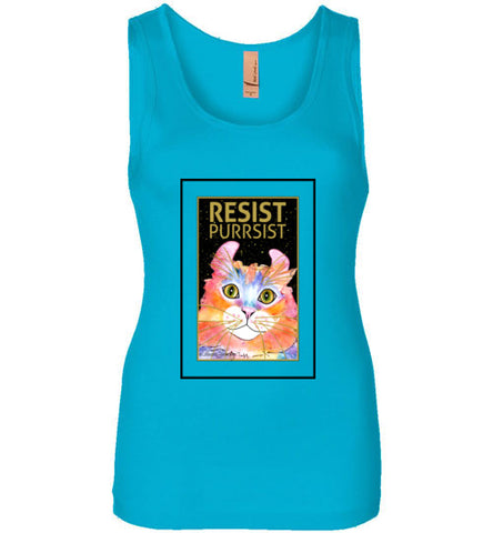 Simba RESIST-PURRSIST Tank Top by Claudia Sanchez