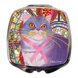 Priscilla's Promise Cat Art Compact Mirror by Claudia Sanchez