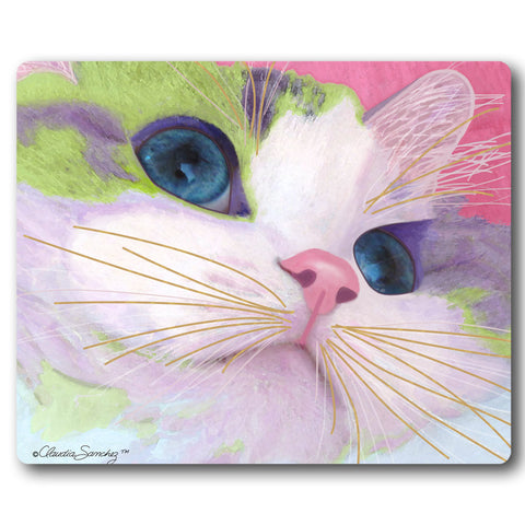 Ali's Eyes Cat Art Mousepad by Claudia Sanchez, Claudia's Cats Collection