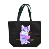 Catnip Sip Cat Art Tote Bag by Claudia Sanchez, Claudia's Cats Collection
