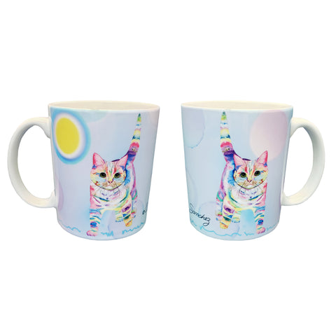 Morris Bliss Mug - Cat art by Claudia Sanchez, Claudia's Cats Collection