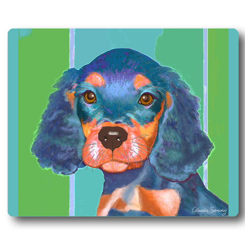 Reese Dog Art Mousepad by Claudia Sanchez