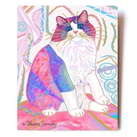 Zapata's Dream Aluminum Cat Art Print, 8x10""