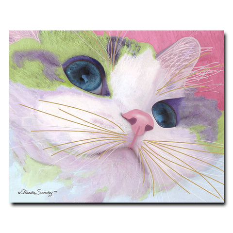 Ali's Eyes 8x10 Hardboard Cat Art Print by Claudia Sanchez