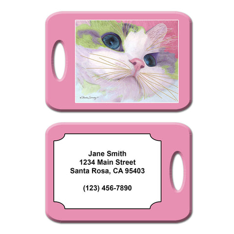 Ali's Eyes Cat Art Luggage Tag by Claudia Sanchez