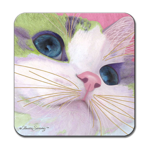 Ali's Eyes Cat Art Coaster