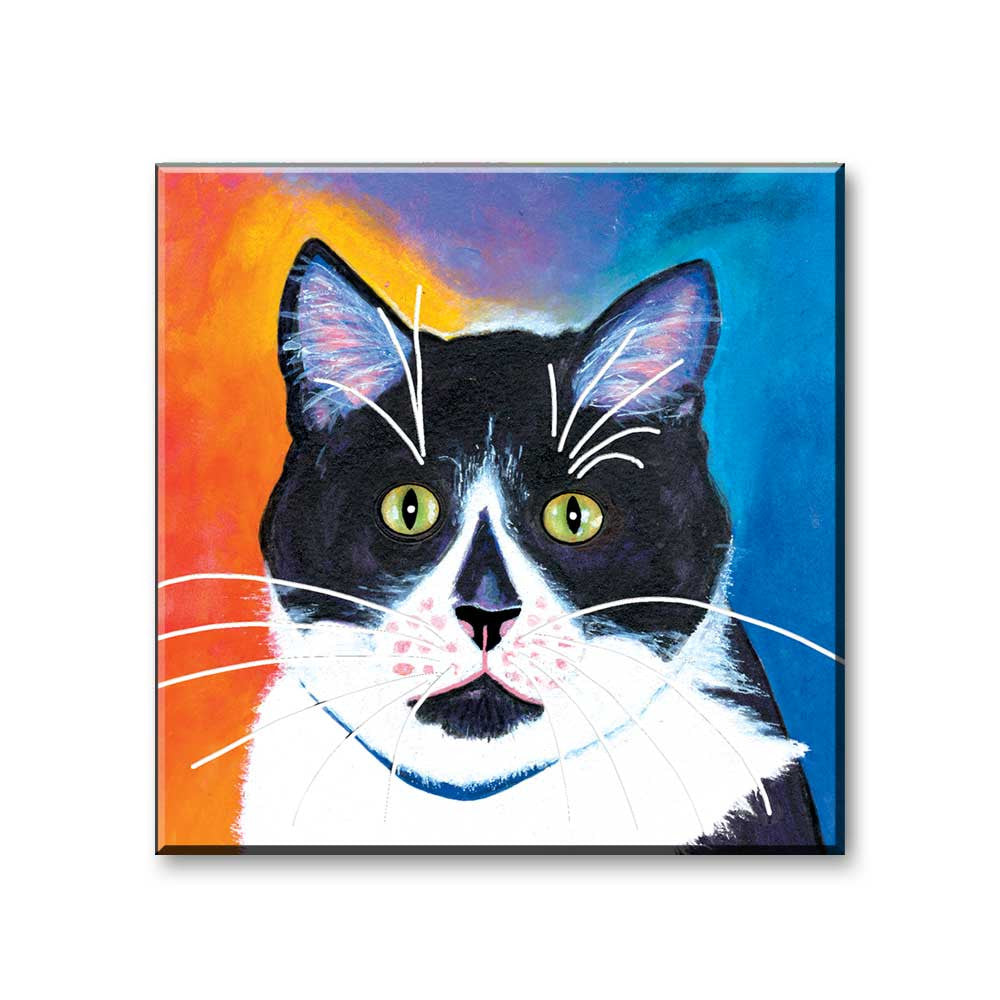 Bootie - Cat Art Magnet by Claudia Sanchez