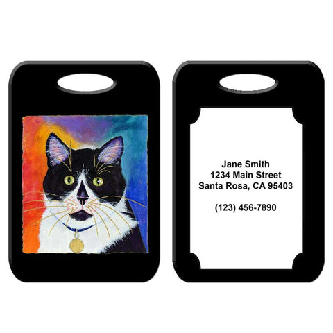 Bootie - Cat Art Luggage Tag by Claudia Sanchez